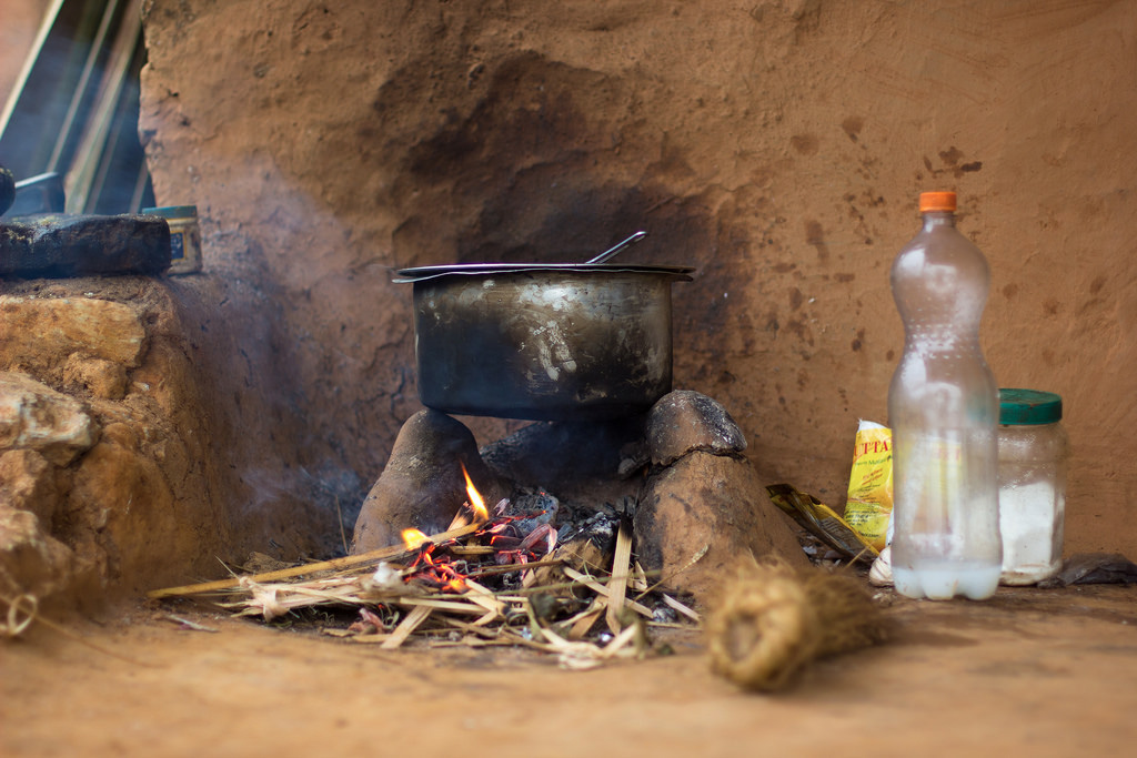 Tradtional village clay cooking stove