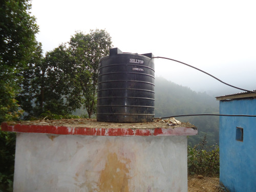 Slide - Water tank above new toilet