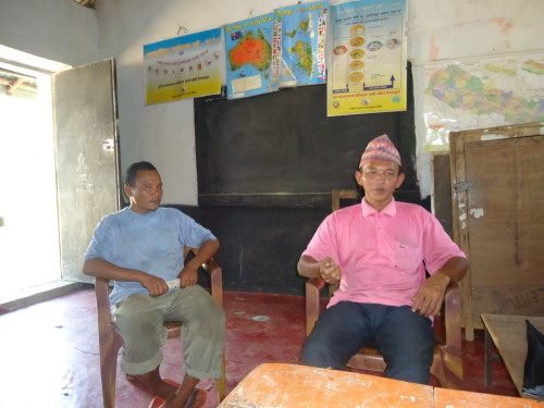 2 members of the Aandhimul School committee Bharat and Resham