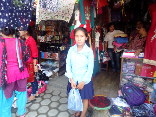 Urmila buying shoe