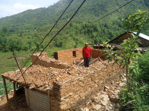 Gyan Bahadur's house part demolished