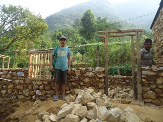 Hira's house rebuilding 1
