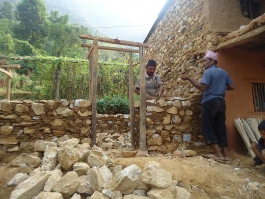 Hira's house rebuilding