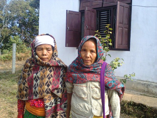 Mangali Bhujel and her Relative in Health Camp