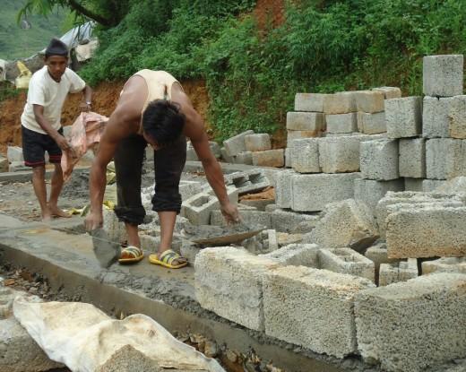 Re-building Shankha Man & Dhanraj's houses in Aandhimul