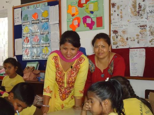 kamala in Kaasthamandap school