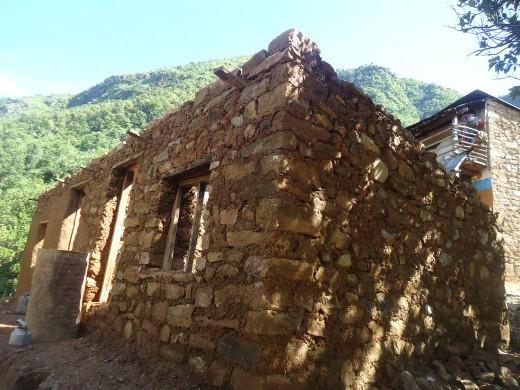 progess of lal maya's house rebuilding