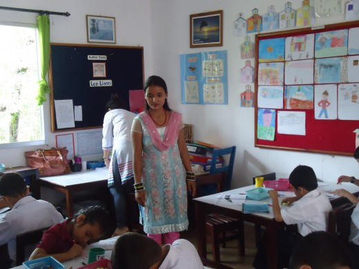 sarita at Kaasthamandap school