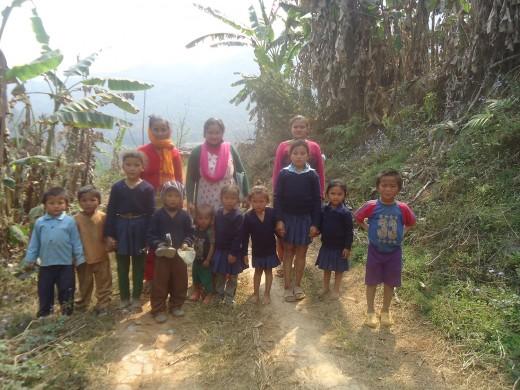 kids going to immunization certre